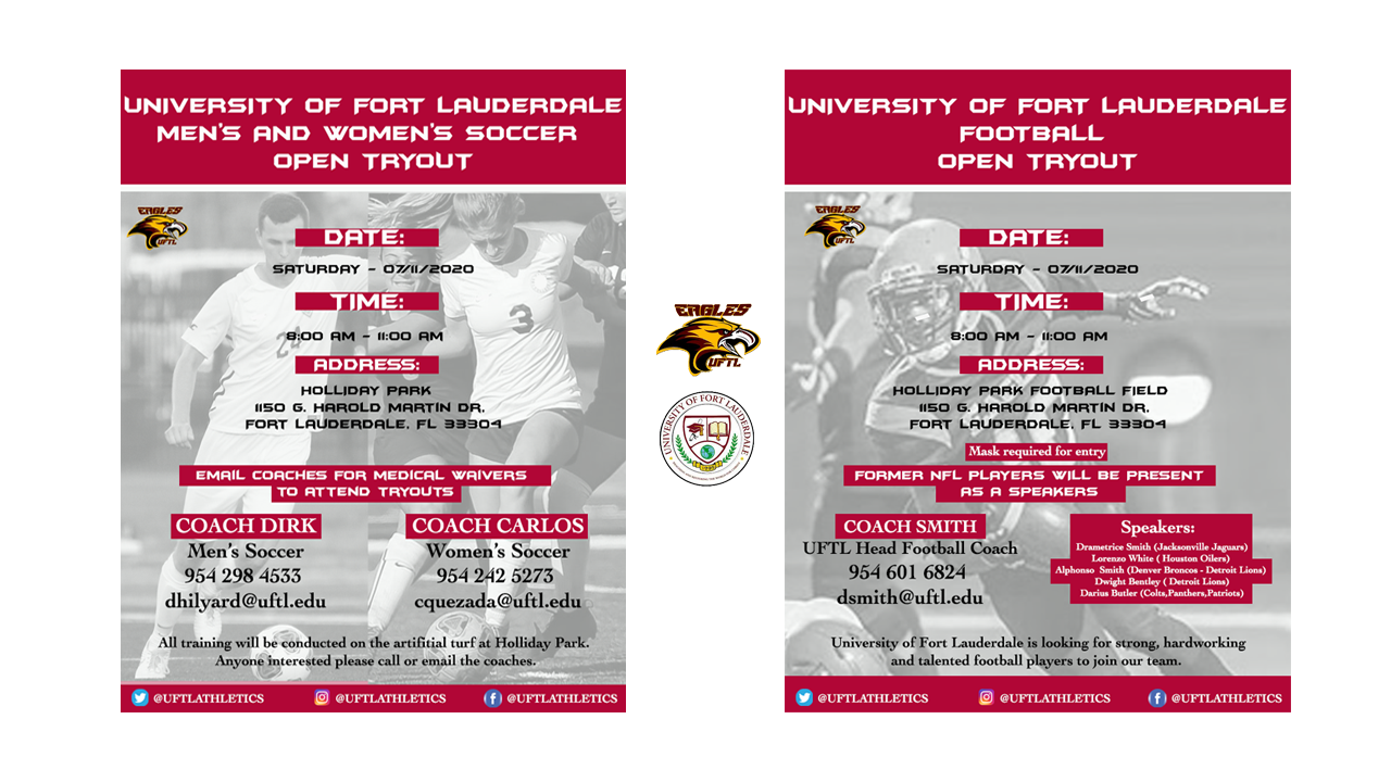 soccer and football tryouts